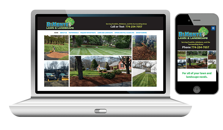 website design for landscaping business