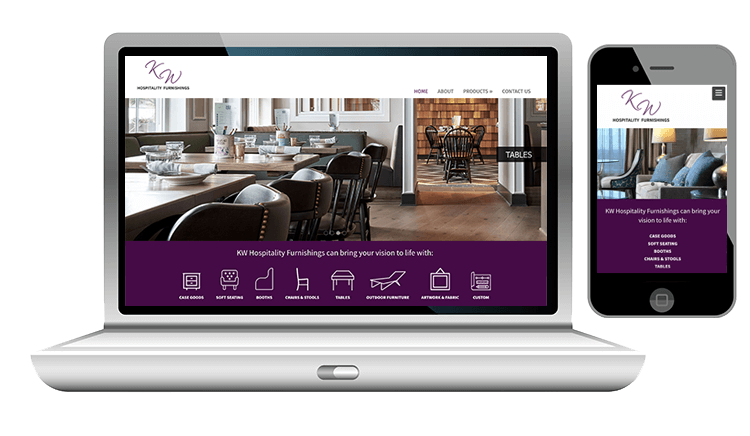website design for hospitality furnishings company