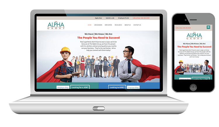 website design for staffing agency